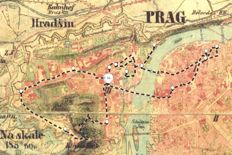 stále v Praze, jen jednou jsem plaval přes řeku